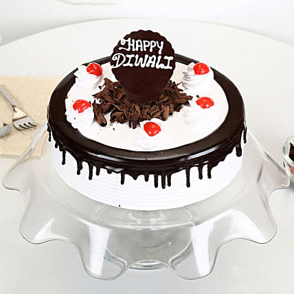 Happy Diwali Black Forest Cake: Send Black Forest Cakes