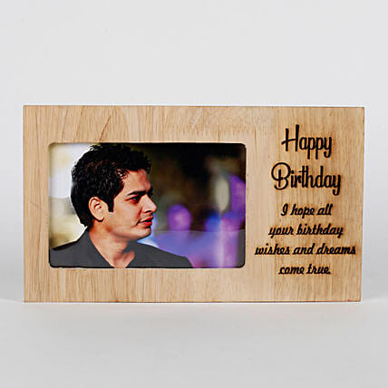 Personalised Birthday Engraved Frame: Personalised Gifts for Brother