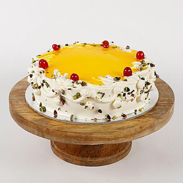 Cream Pista Cake: