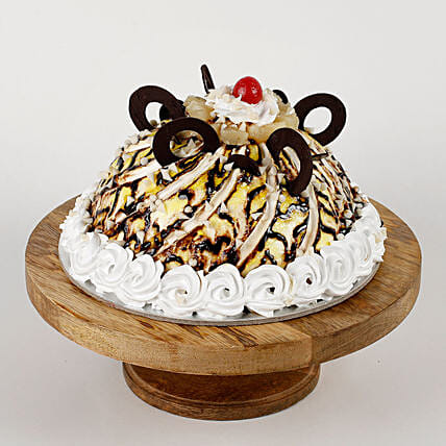 Dome Shaped Choco Coin Cake: Send Vanilla Cakes