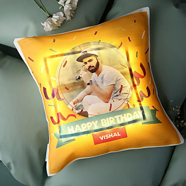 Personalised Birthday LED Cushion: Send Gifts for Boyfriend