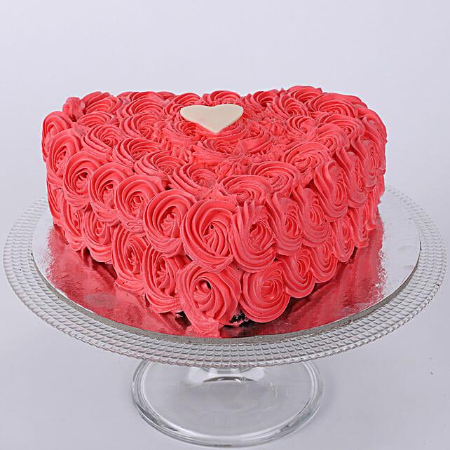 Valentine Heart Shaped Cake: Send Designer Cakes