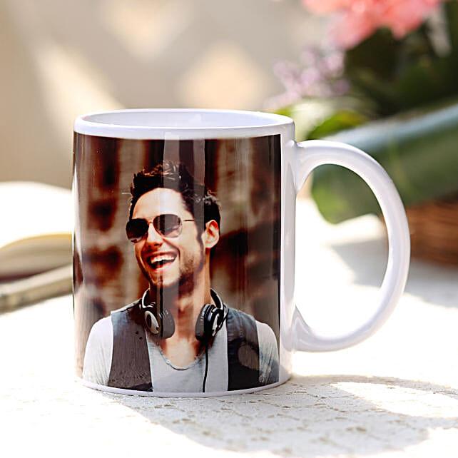 Personalised Love White Ceramic Mug: Birthday Gifts for Boyfriend