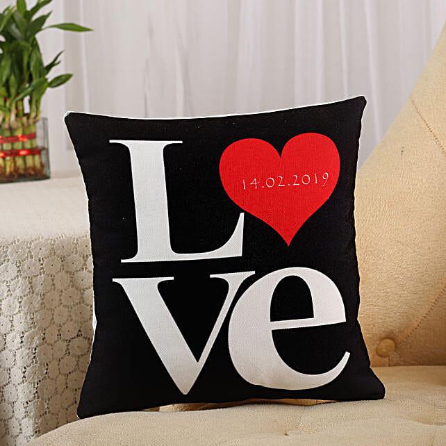 Love Cushion Black: Gifts To Pragati Nagar