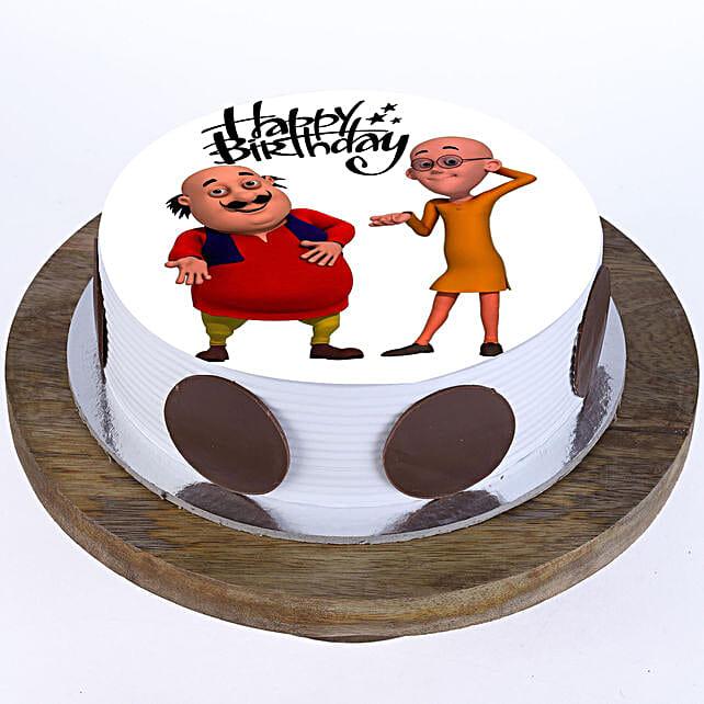 Motu Patlu Cake: Send Red Velvet Cakes to Faridabad