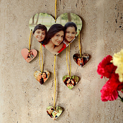 Heartshaped Personalized Wall Hanging: Send Personalised Gifts to Secunderabad
