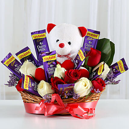 Special Surprise Arrangement: Send Flowers and Chocolates
