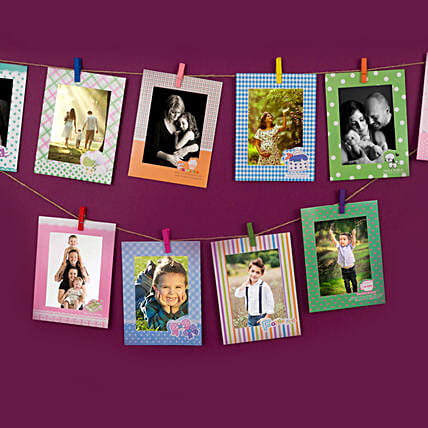 Set Of Colourful Photo Frames: Personalised Photo Frames Gifts