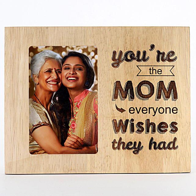 Engraved Wooden Photo Frame For Mom: Birthday Photo Frames