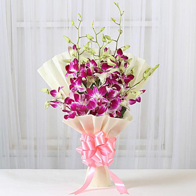 Impressive Orchids Bouquet: Valentines Day Orchids