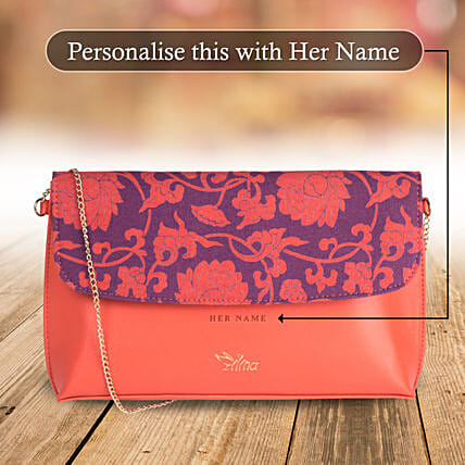 Floral Pink Sling Bag: Personalised Gifts for Wife