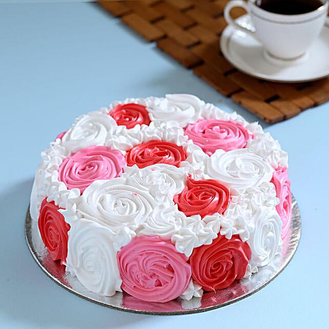 Yummy Colourful Rose Cake: Send Designer Cakes