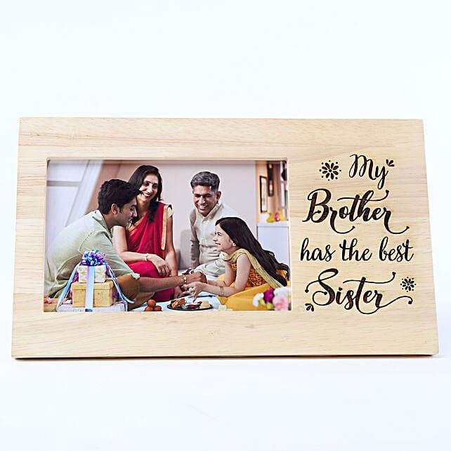 Personalised Best Sister Wooden Frame: Personalised Engraved