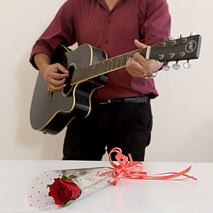 Single Red Rose Musical Combo: