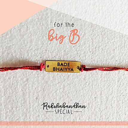 For Your Bade Bhaiya Quirky Rakhi & Card: Send Rakhi to Raipur