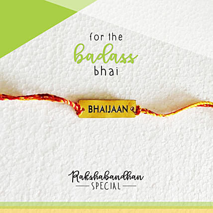 For Your Bhaijaan Quirky Rakhi & Card: Send Rakhi to Mango