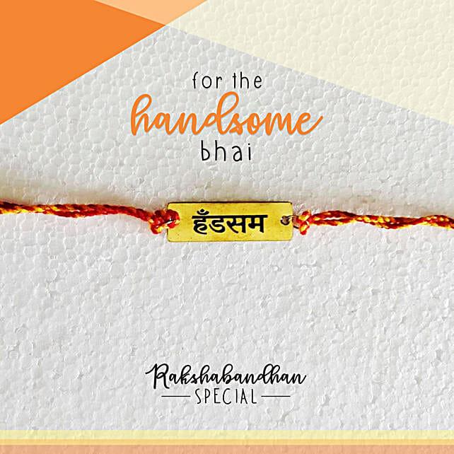Handsome Bro Quirky Rakhi & Card: Send Rakhi to Pale