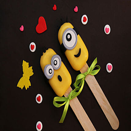 Minions Special Set of 2 Cakesicles: Cakes Delivery India