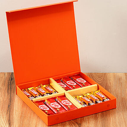 Orange FNP Gift Box Of Chocolates: Gifts for Kids