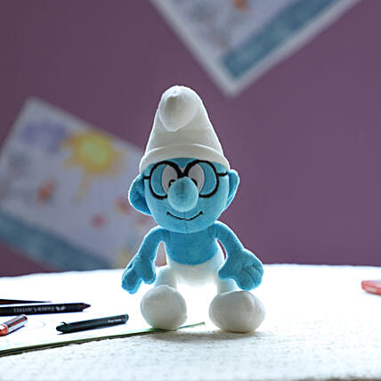 Smurf Smurf With Glass 20 Cm: Soft toys for Him