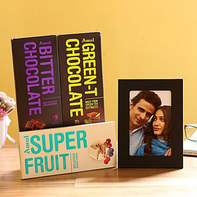 Personalised Photo Frame & Amul Chocolates: Personalised Photo Frames Noida