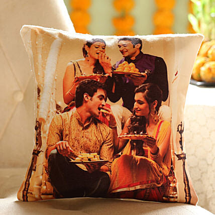 Personalised Festive Celebrations Cushion: Send Personalised Gifts for Diwali