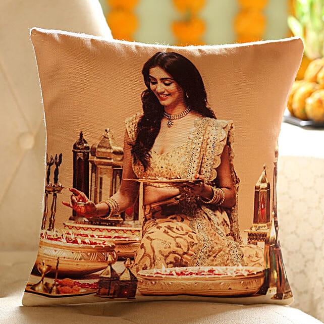 Personalised Festive Cushion: Personalized Diwali Gifts
