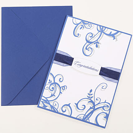 Congratulations Ribbon Greeting Card: Greeting Cards