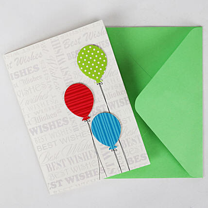 Happy Birthday Balloon Greeting Card: Friendship Day Gifts