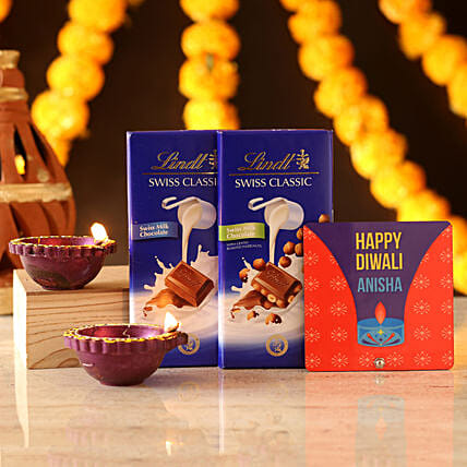 Personalised Sweet Diwali Wishes: Table tops Gifts