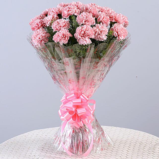 Unending Love-24 Light Pink Carnations Bouquet: