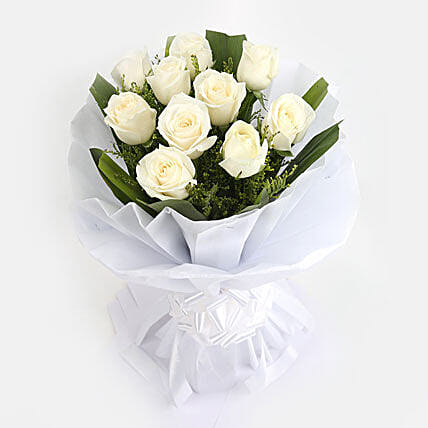 White Roses Bunch: Condolence