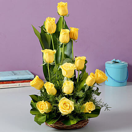 Sunshine Yellow Roses Bouquet: Birthday Flowers