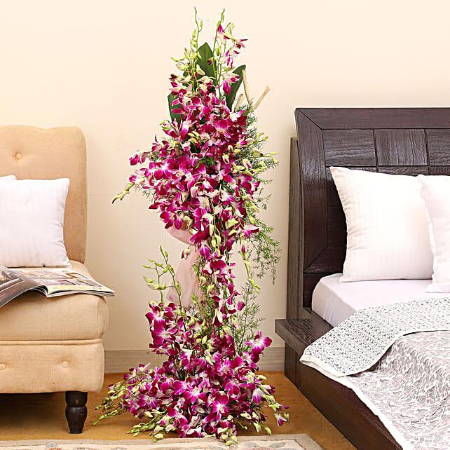 Royal Purple Orchid Arrangement: Send Orchids