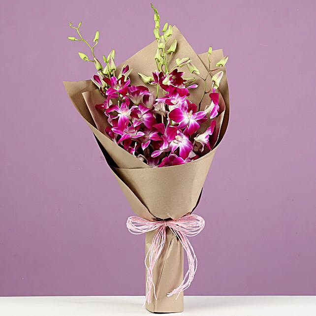 Royal Purple Orchids Bunch: Purple Flowers