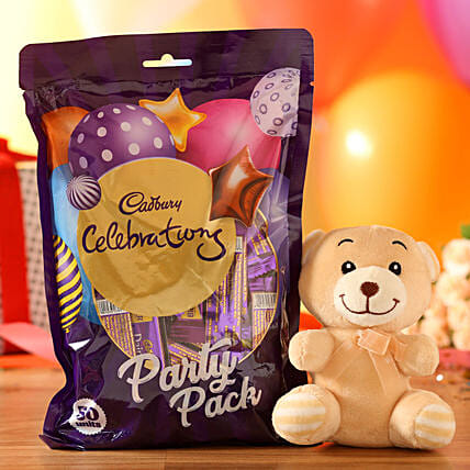 Adorable Teddy Bear & Cadbury Party Pack: Cadbury Chocolates