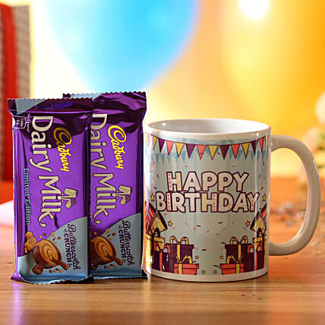 Birthday Wishes Mug & Dairy Butterscotch: