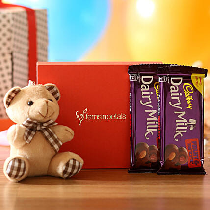 Cuddly Bear & Dairy Milk Fruit N Nut Combo: