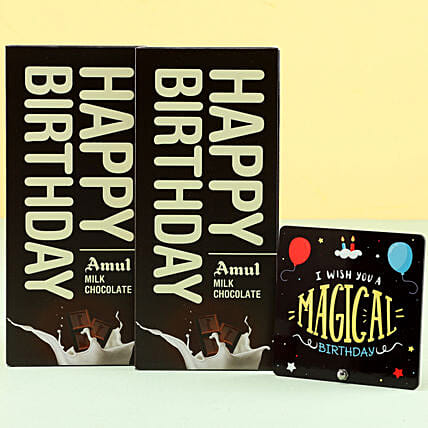Amul Milk Chocolates For Birthday: Birthday Chocolates