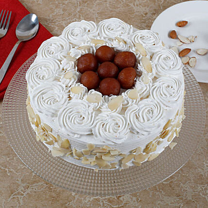 Vanilla Fusion Gulab Jamun Cake: Sweets Delivery