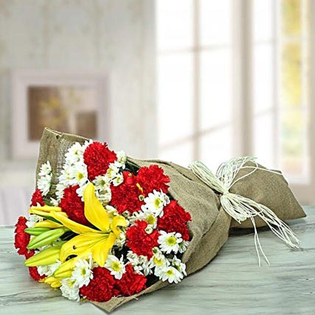 Vivacious Flower Bouquet: