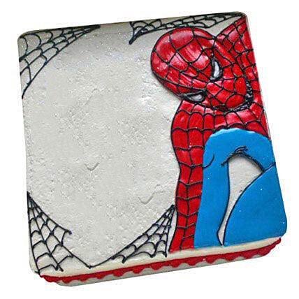 Web of Spiderman Cake: Cartoon Cakes