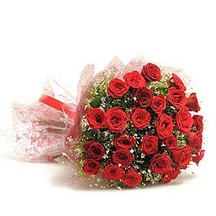 Beautiful 30 Red Roses Bouquet: Rose Day Gifts