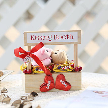 Wooden Kissing Booth With Chocolates: Cadbury Chocolates