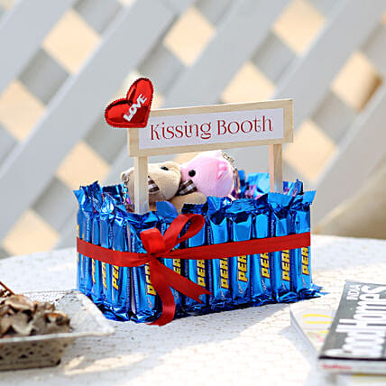 Wooden Kissing Booth With Perk Chocolates: Cadbury Chocolates