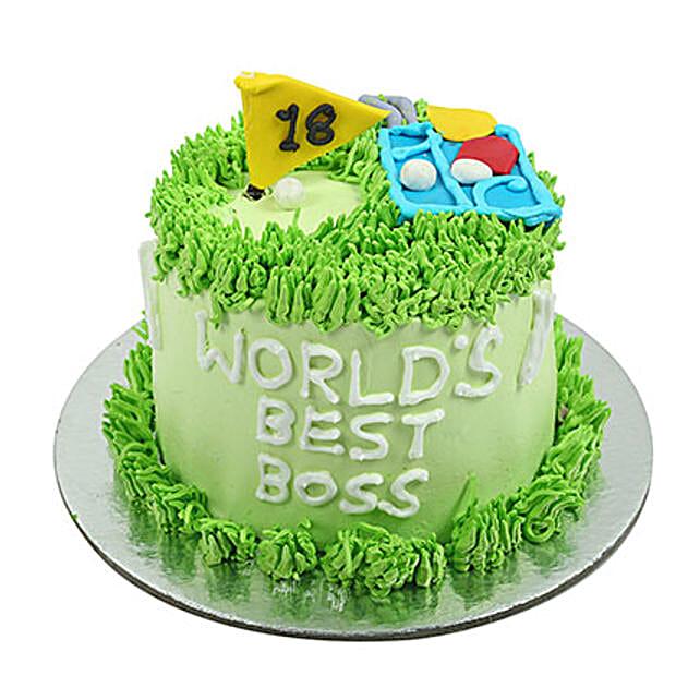 Worlds Best Boss Cake Gift For