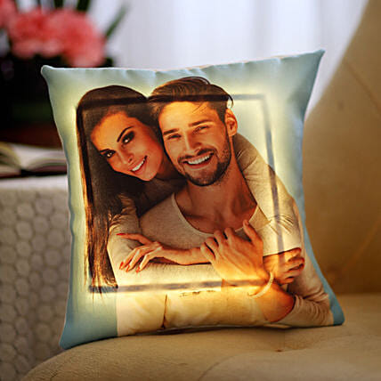 Yellow LED Personalised Love Cushion: Cushions