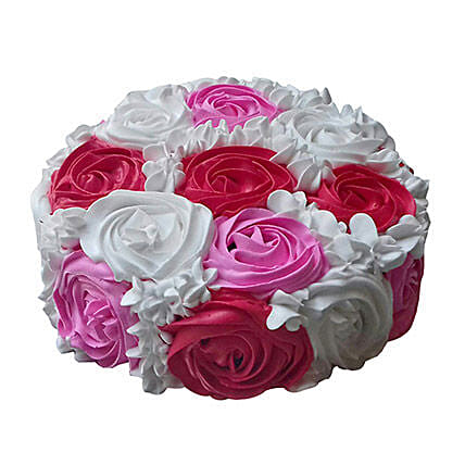 Yummy Colourful Rose Cake: Designer Cakes