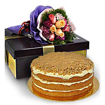 Caramel Butterscotch Buttercream Salted Cake: Father's Day Gift Delivery in Malaysia
