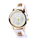 Chained White Silicone Watch